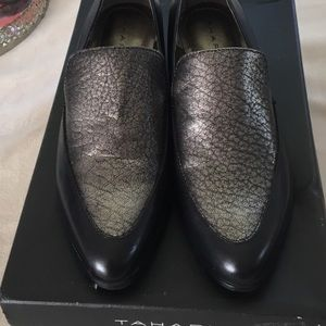 New in box Tahari leather loafers.